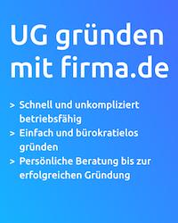 UG Gründung mit Firma.de